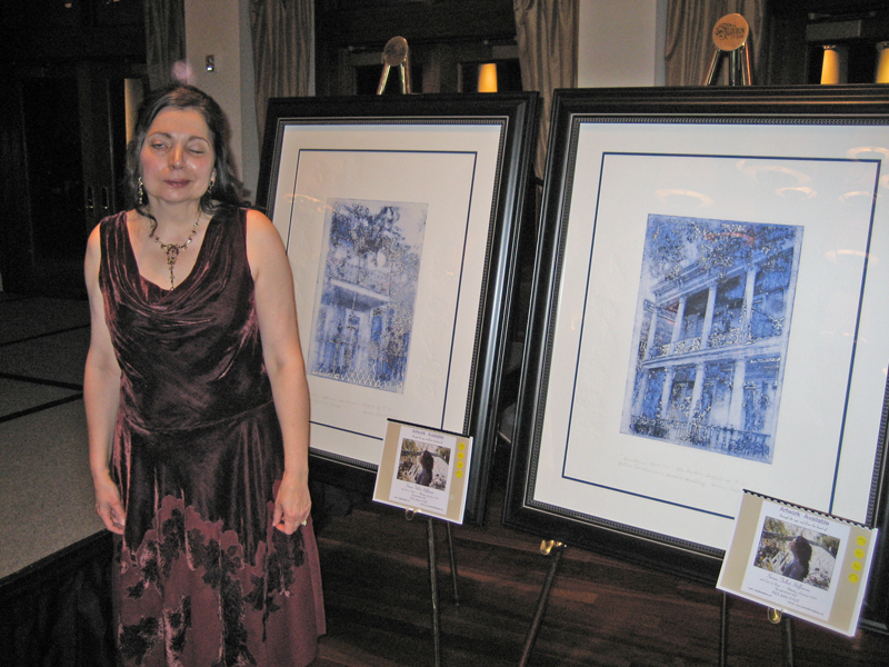 Artist Susan Talbot Hoffmann at the LA Center for Women & Government, NO Leadership Council's celebrity fundraiser.